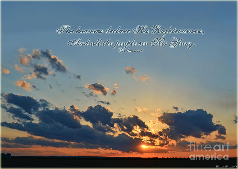 Sunset Sky With Verse Photograph By Debbie Portwood