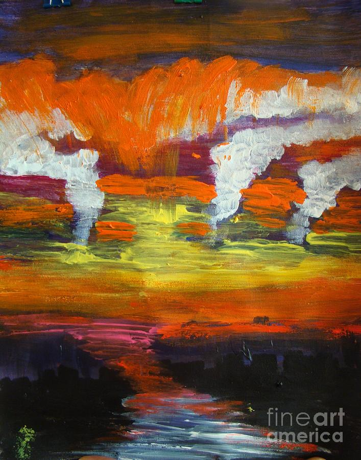 Sunset Painting by Sonali Singh