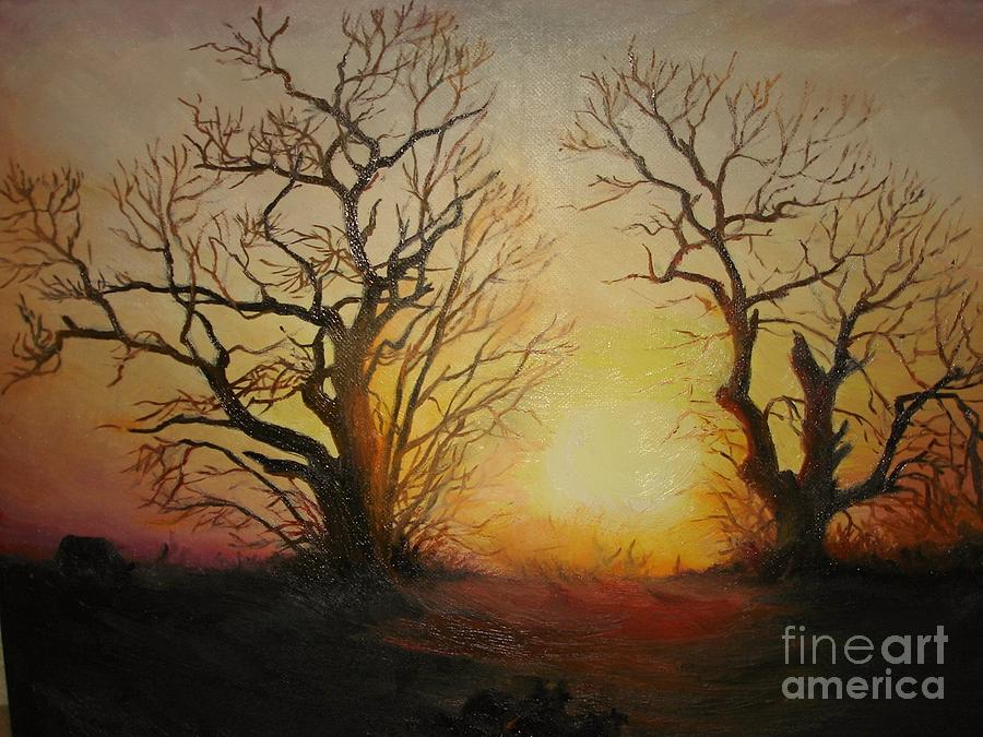 Sunset Painting - Sunset by Sorin Apostolescu