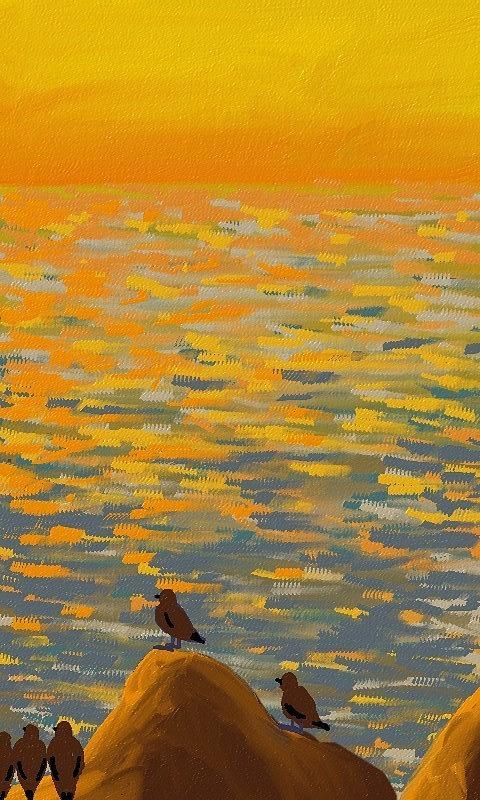 Sunset Painting - Sunset Spectators by  Alice Butera