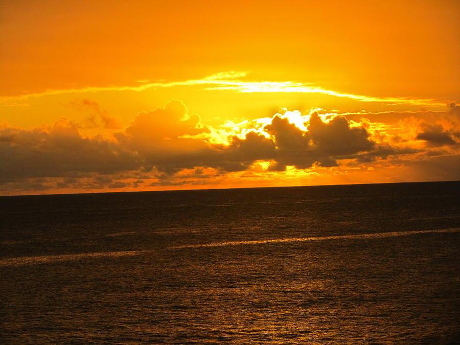 Sunset Orange Digital Art - Sunset  by Stephanie Francis