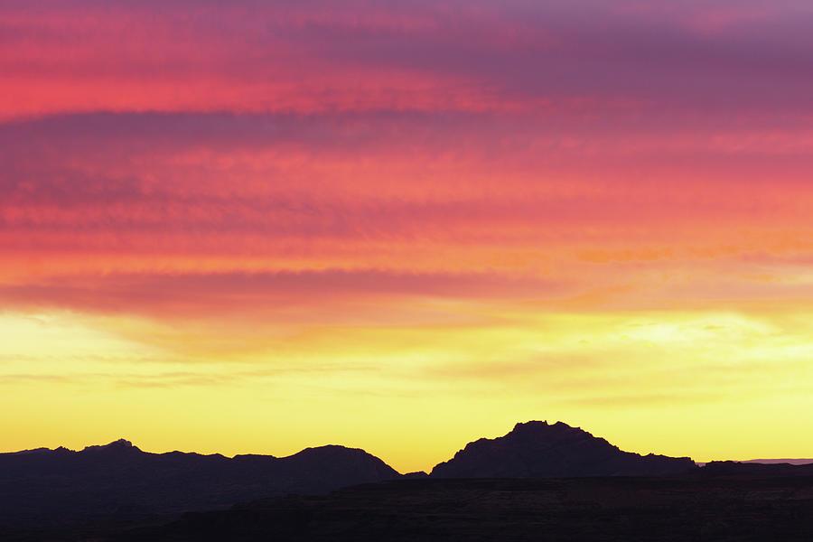 Sunset Stratus Clouds Southwest Photograph by Chuckschugphotography