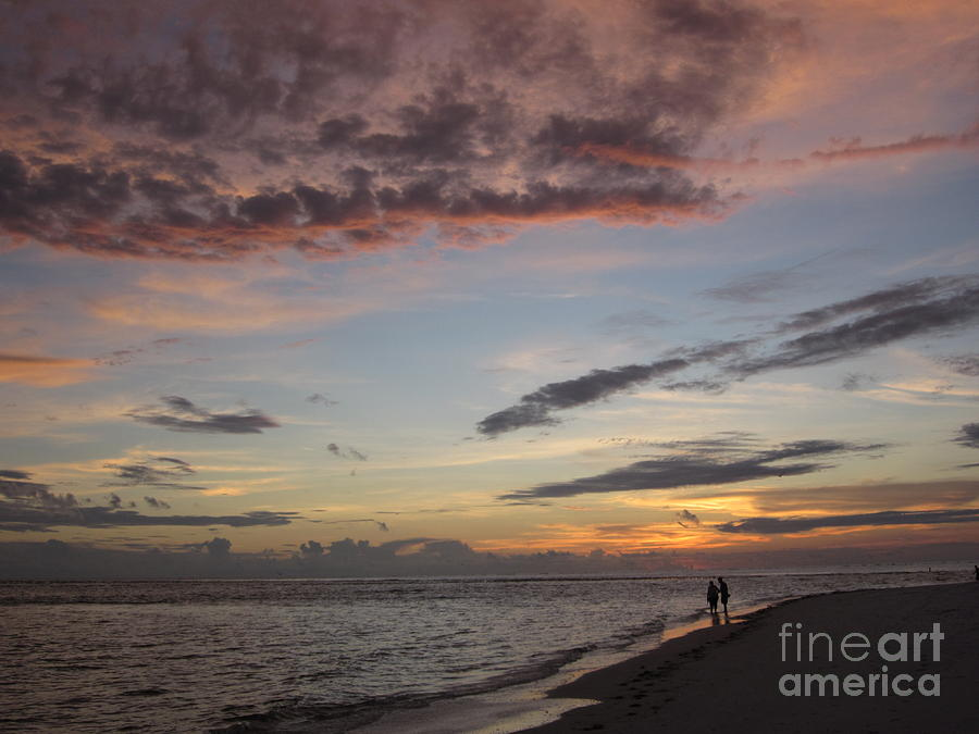 Sunset Photograph - Sunset Stroll by Elizabeth Carr