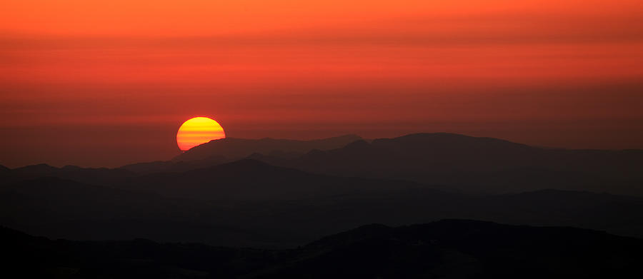 Sunset Pyrography - Sunset  by Svetoslav Sokolov