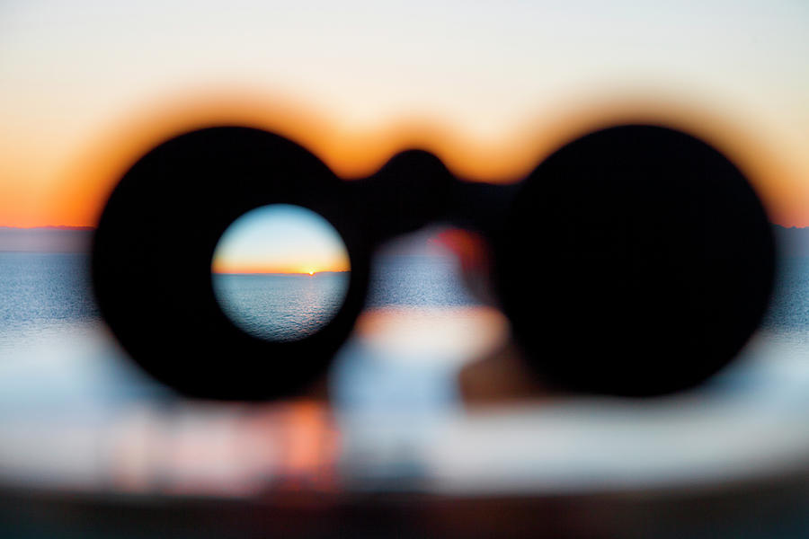 Sunset Through Binoculars From Cruise Photograph by Holger Leue