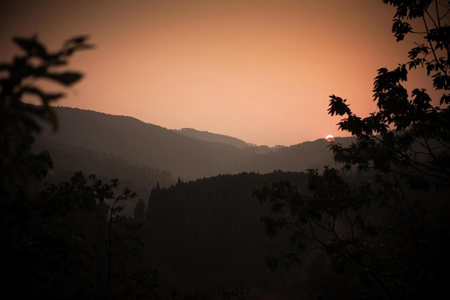 Sunset Through Kyoto Hills Photograph by Hal Bergman