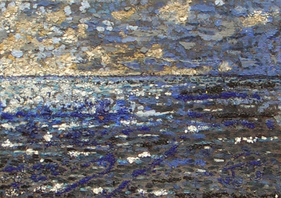 Marine Landscape Painting - Sunset Toward The Calm by Livio Lopedote