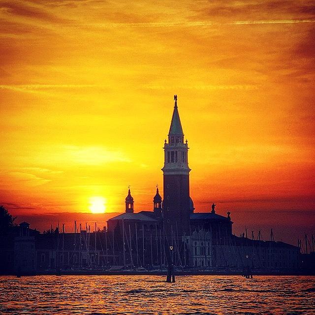 Venezia Photograph - #sunset #venezia #venice #italy by Luisa Azzolini