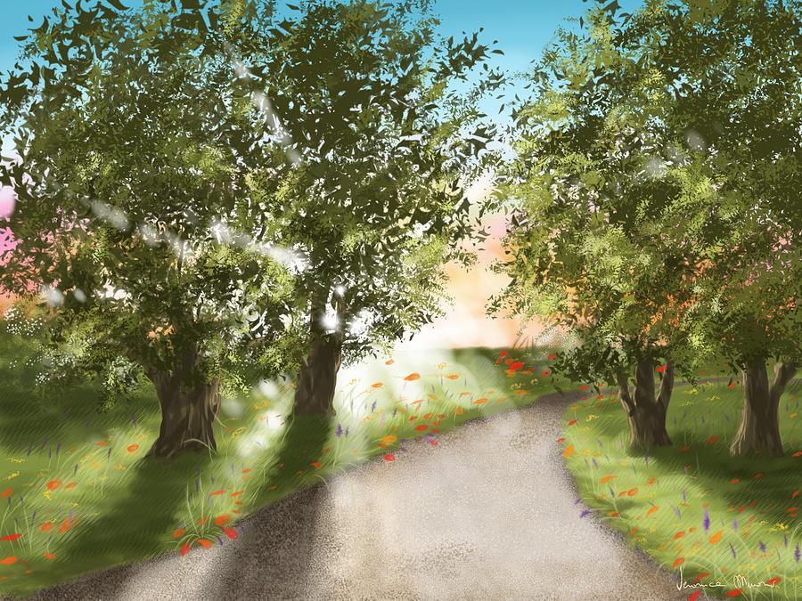Digital Painting - Sunset by Veronica Minozzi