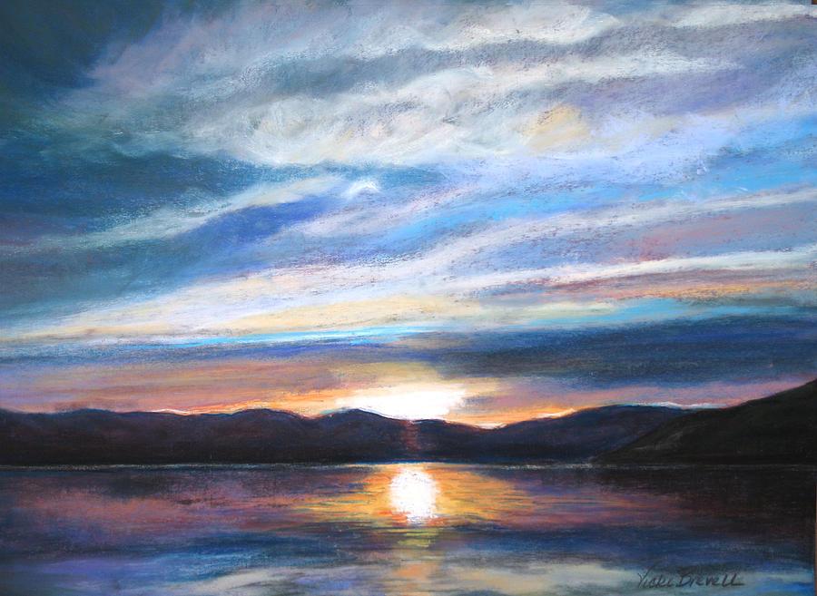 Landscape Painting - Sunset by Vicki Brevell