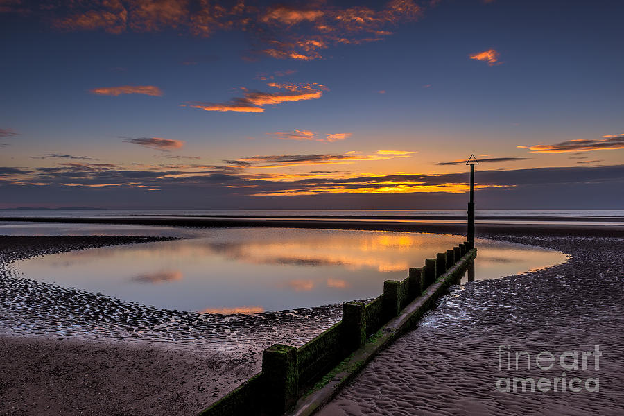 Bay Photograph - Sunset Wales by Adrian Evans