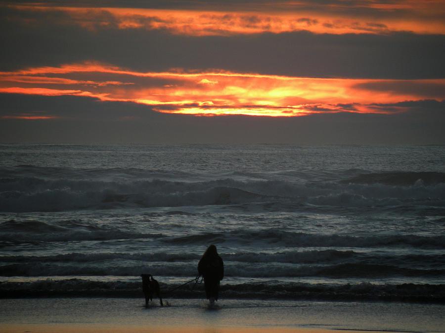 Sunset Walk Photograph - Sunset Walk by David Quist