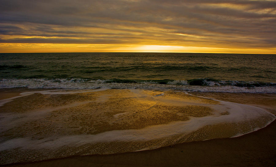 Atlantic Ocean Photograph - Sunset Waves by Kathi Isserman
