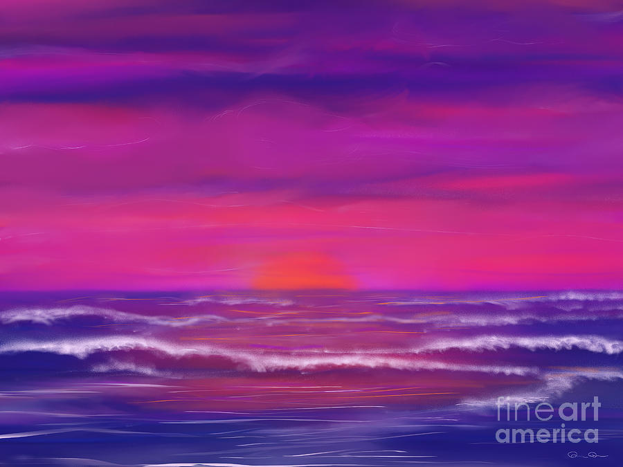 Sunset Painting - Sunset Winds by Roxy Riou