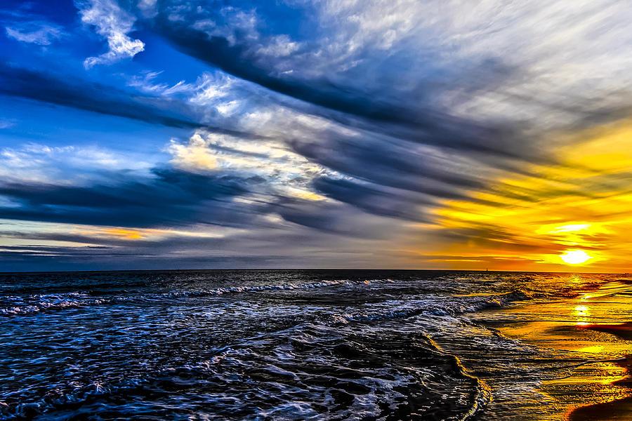 Alabama Photograph - Sunset With Blue Sky by Gej Jones