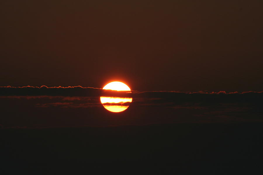 Sunset Photograph - Sunset with Cloud by Dr Carolyn Reinhart