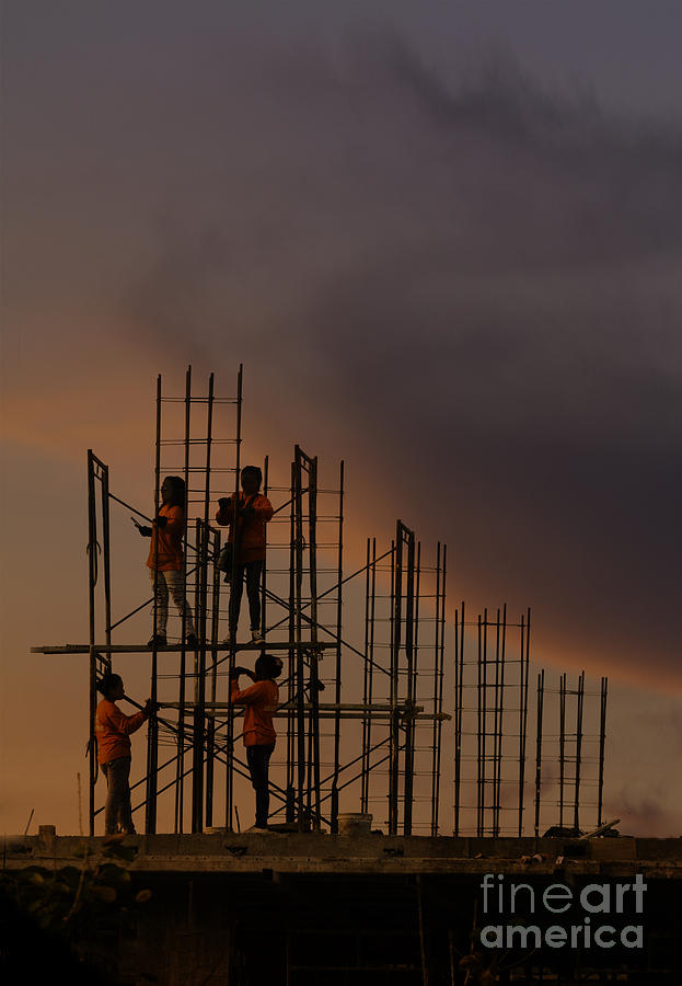 Thailand Photograph - Sunset Workers by Soren Egeberg