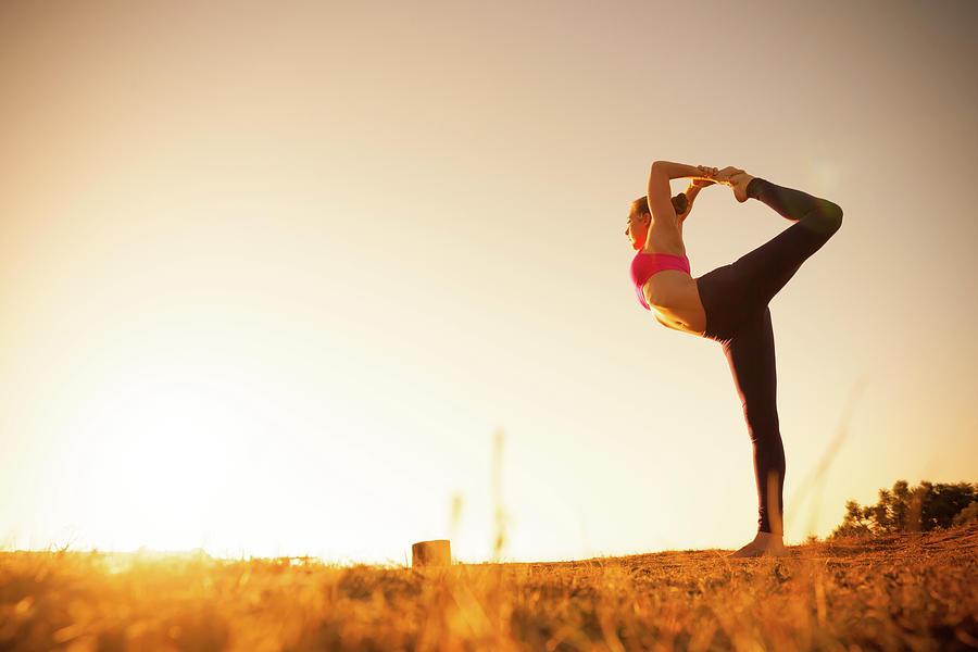 Sunset Yoga Photograph by Michaelsvoboda
