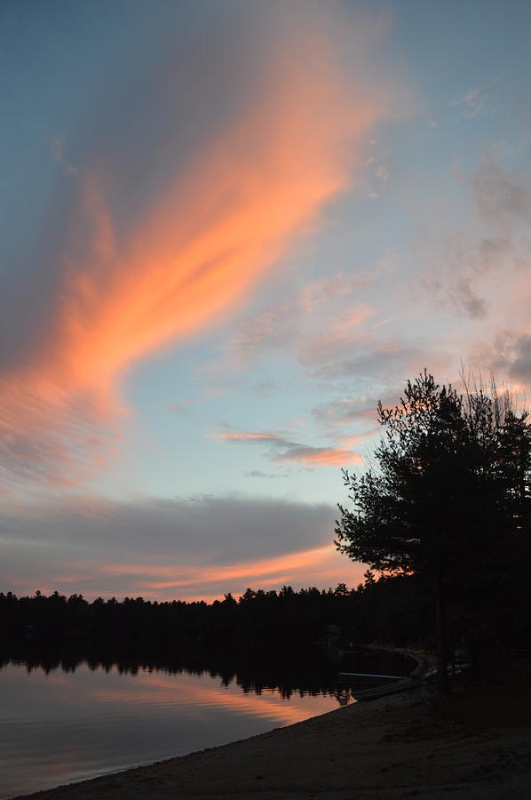 Sunsets Before Snowfalls Photograph