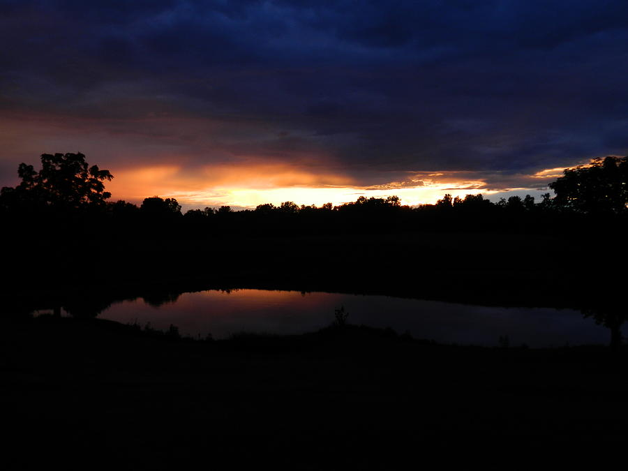 Sunset Photograph - Sunsets Reflection by Linda Brown