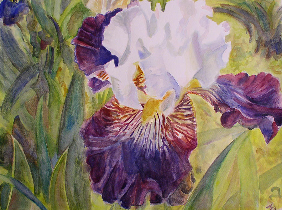 Flowers Painting - Sunshine And Leaves by Marty Smith
