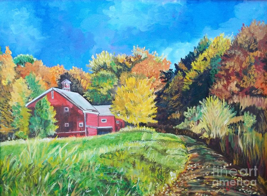 Farm Painting - Sunshine Before The Storm by Frank Giordano