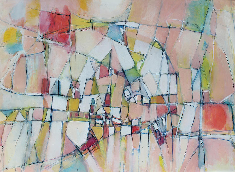 Abstract Painting Painting - Sunshine City by Hari Thomas
