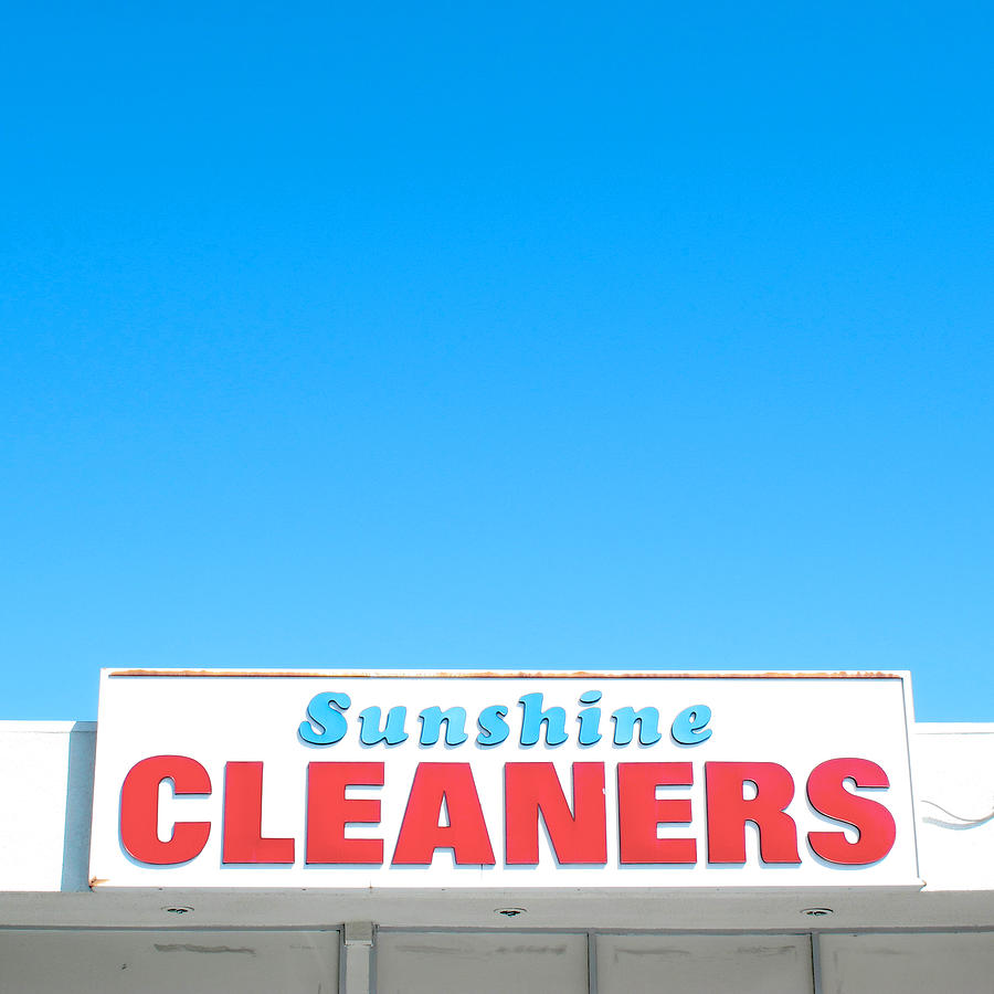 Americana Photograph - Sunshine Cleaners by Keith May