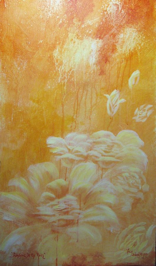 Flowers Painting - Sunshine In The Rain by Lori Salisbury