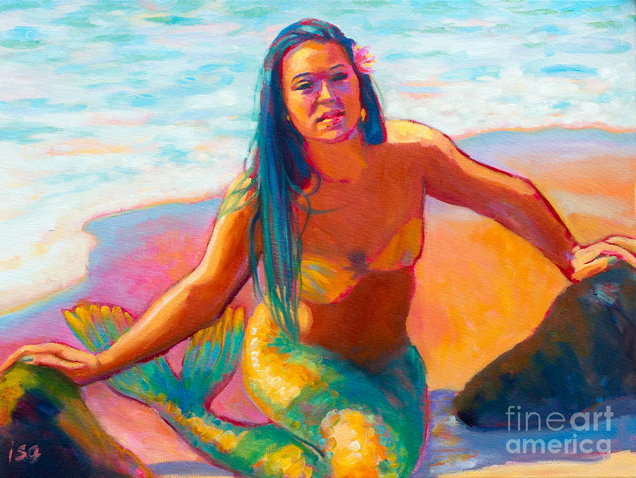 Mermaid Painting - Sunshine by Isa Maria