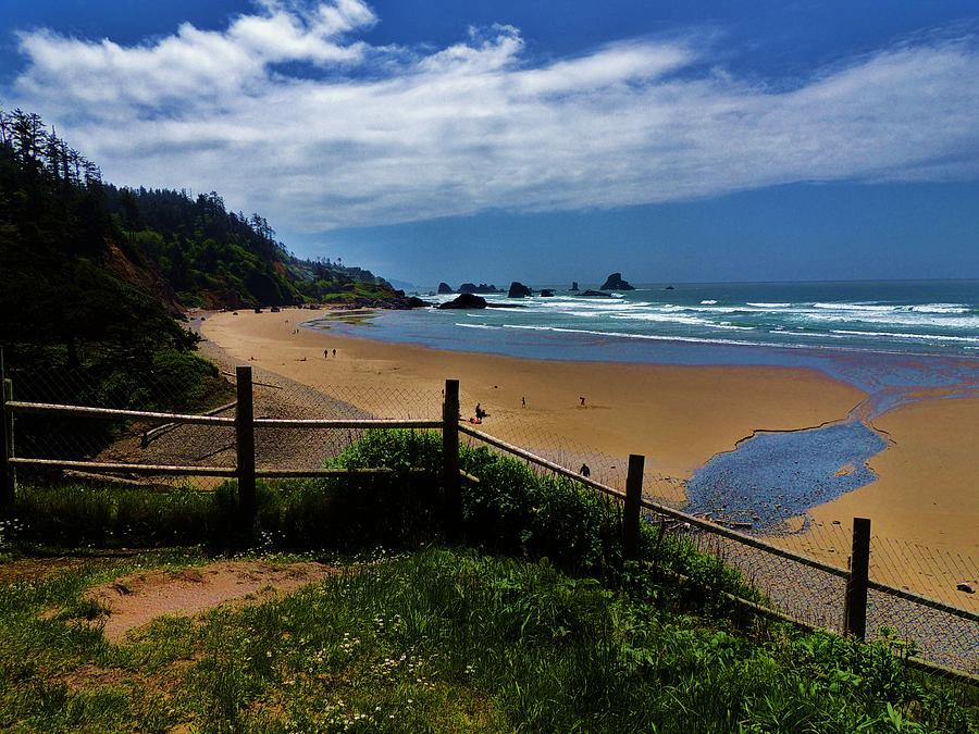 Cannon Beach Photograph - Sunshine On The Beach by Helen Carson