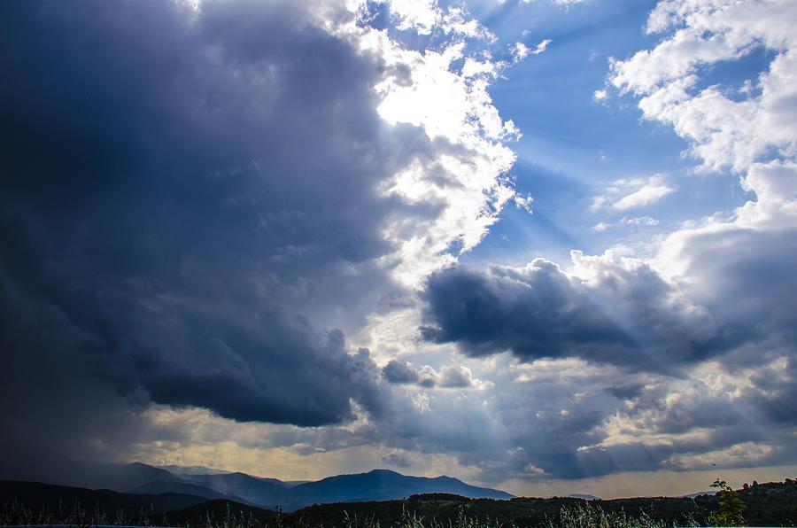 Sky Photograph - Sunshines In Blackness by Sotiris Filippou