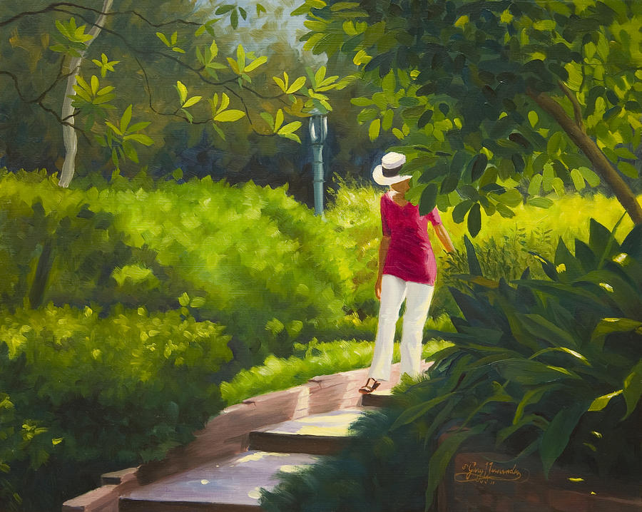 Garden Painting - Sunspots and Shadow by Gary  Hernandez
