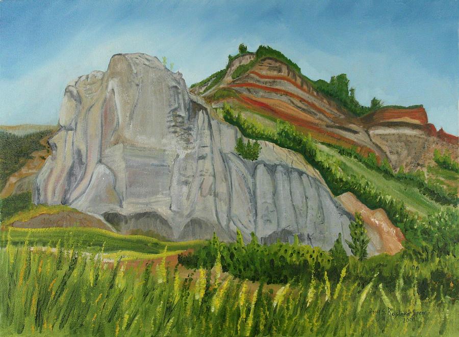 Sandstone Painting - Suntrana Sandstone by Amy Reisland-Speer