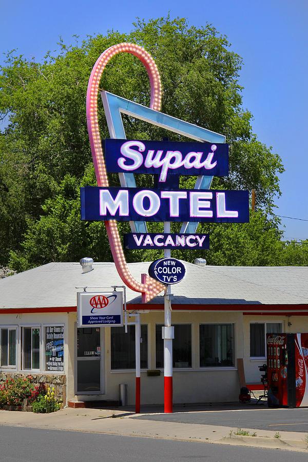 Supai Motel Photograph - Supai Motel - Seligman by Mike McGlothlen