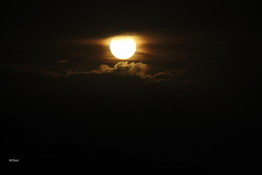 Super Bright Full Moon Over Naples Photograph