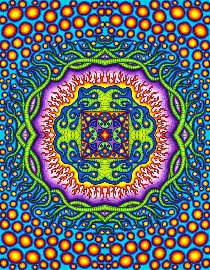 Matt Molloy Drawing - Super Cell Symmetry by Matt Molloy