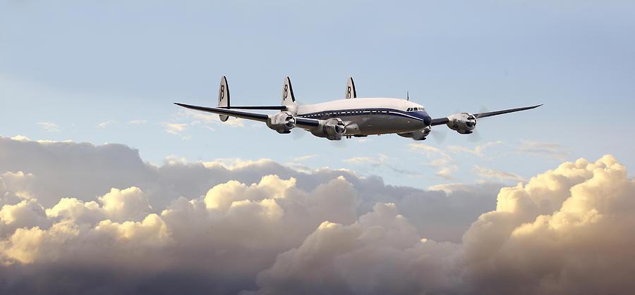 Aircraft Photograph - Super Constellation - End Of An Era by Pat Speirs