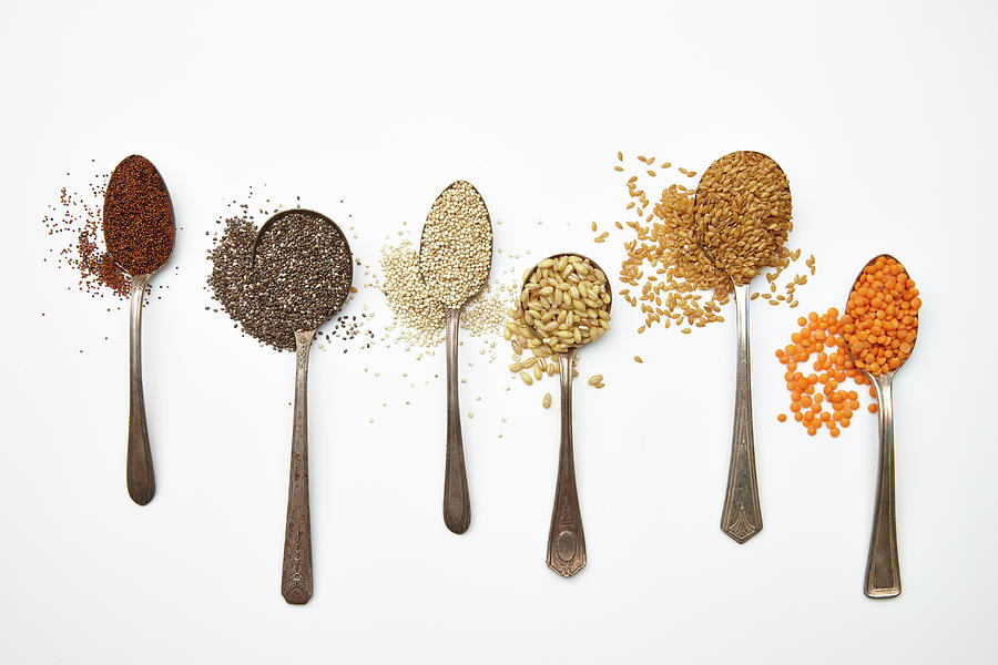 Super Food Grains Photograph by Lew Robertson