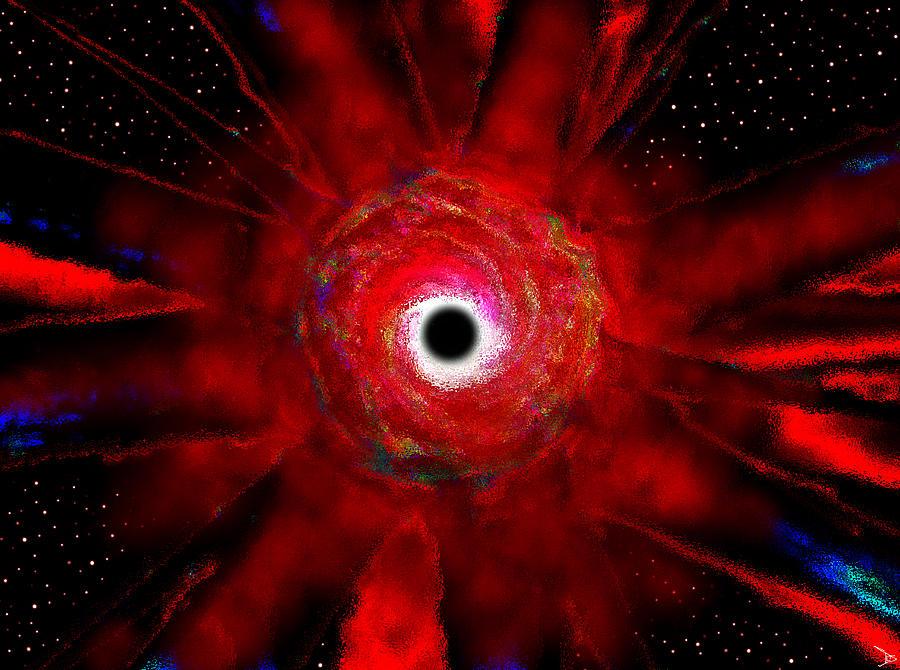 Super Massive Black Hole Painting - Super Massive Black Hole by David Lee Thompson