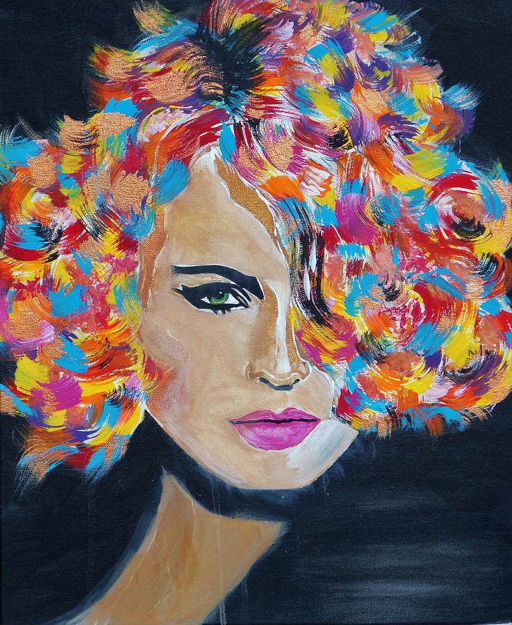 Super Model Paintings Super Model Posters Painting - Super Mod 14 by Michael Henzel