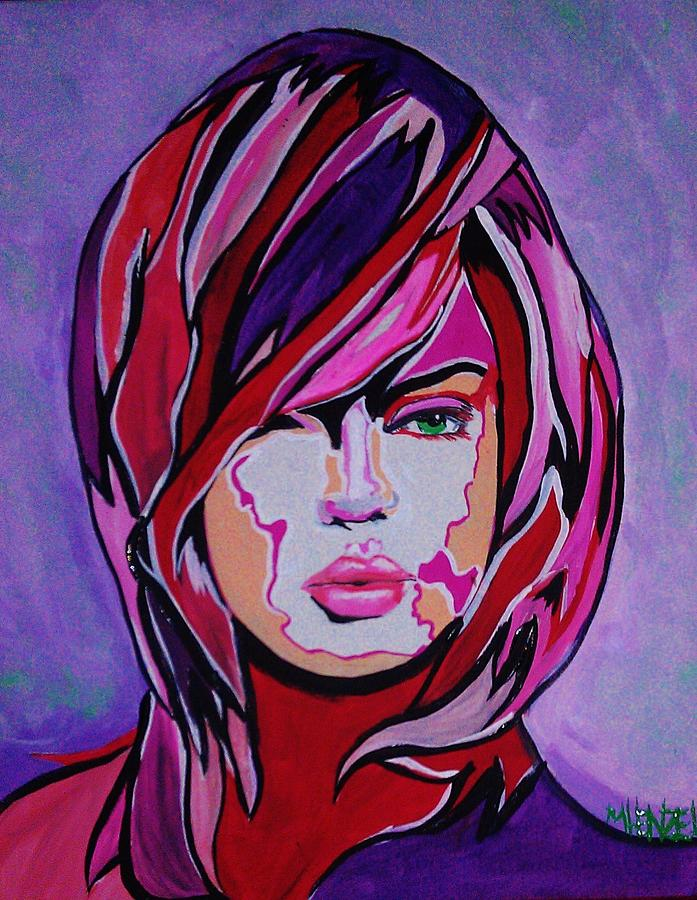 Woman Portrait Painting - Super Mod 15 by Michael Henzel