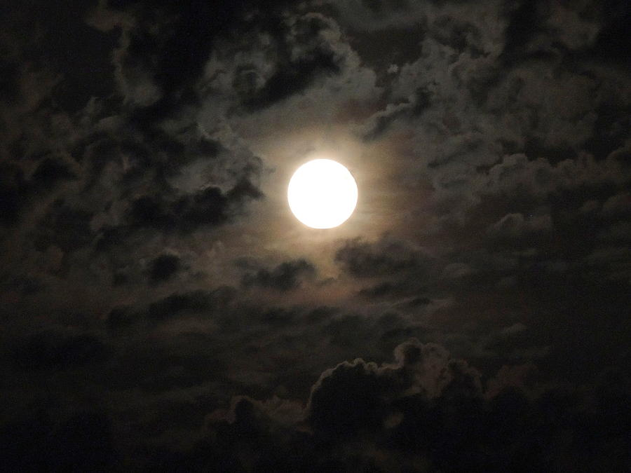 Moon Glow Photograph - Super Moon by Chrissey Dittus