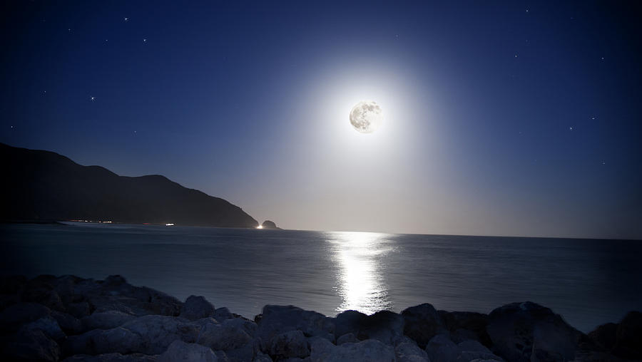 Super Moon Photograph - Super Moon by Thomas Kessler