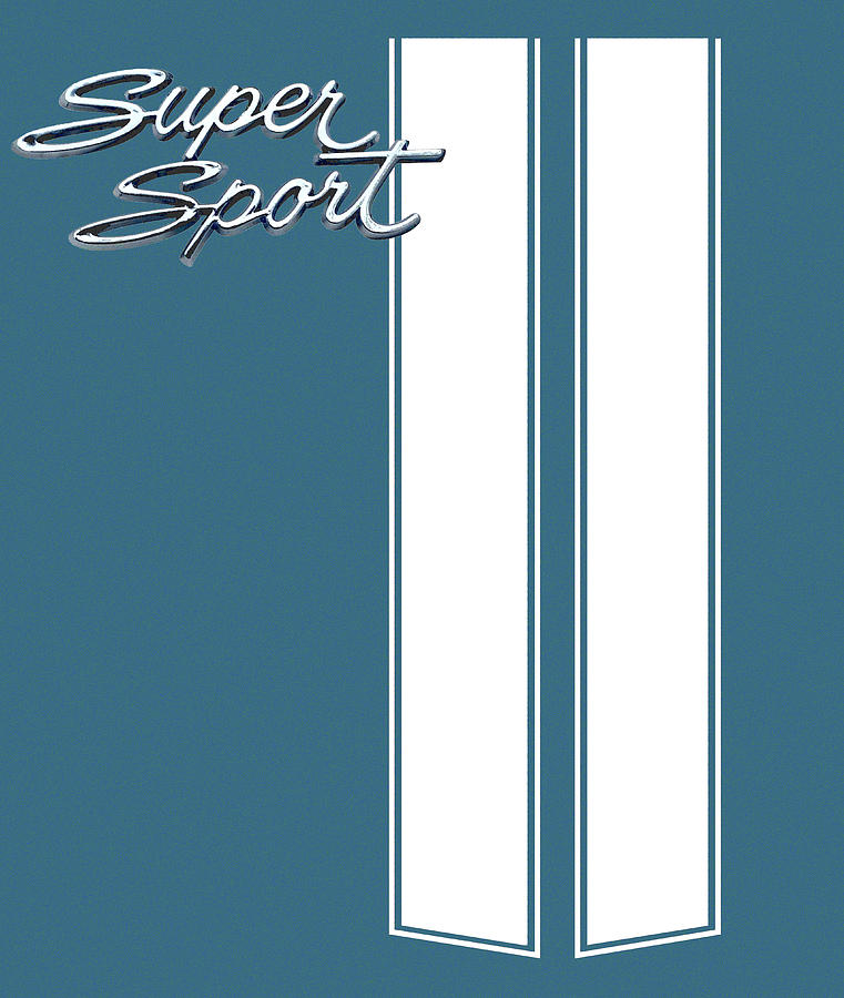 Super Sport Digital Art - Super Sport Blue by Gabe Arroyo
