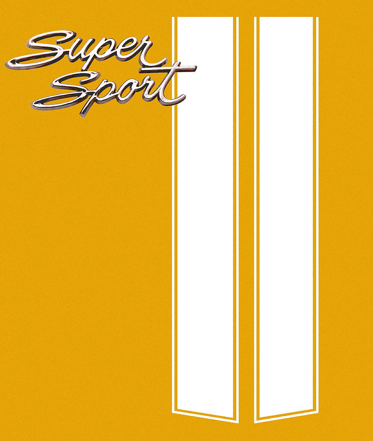 Super Sport Digital Art - Super Sport Yellow by Gabe Arroyo