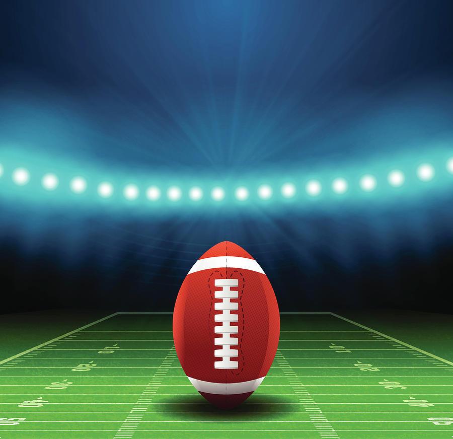 Superbowl Football Field Background Digital Art by Filo