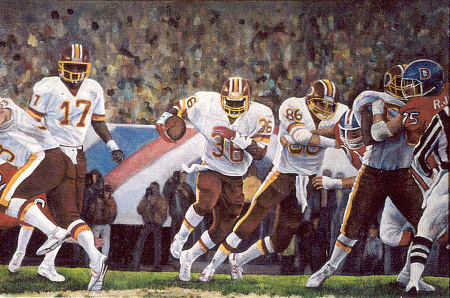 People Painting - Superbowl Xii by Donna Tucker