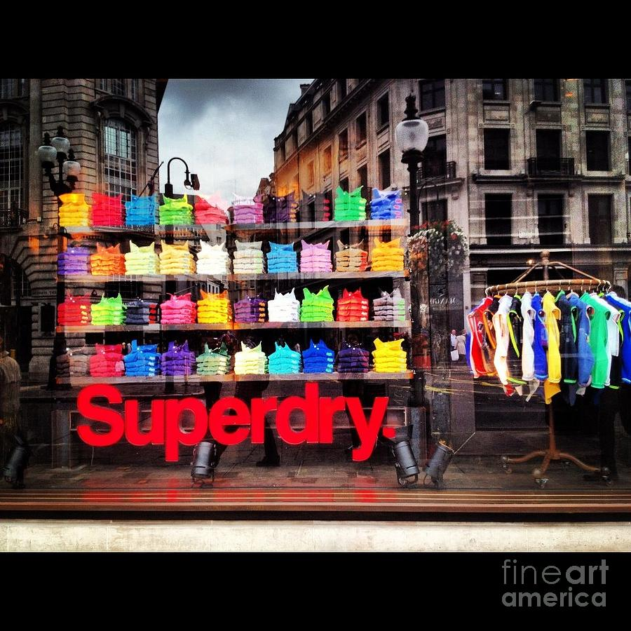 London Photograph - Superdry. by Carly Athan