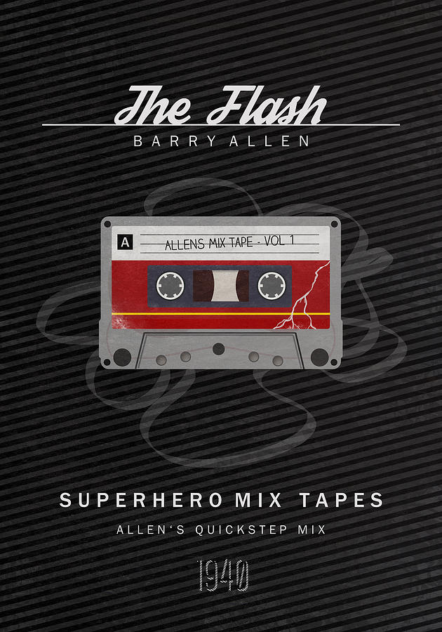 The Flash Digital Art - Superhero Mix Tapes - The Flash by Alyn Spiller